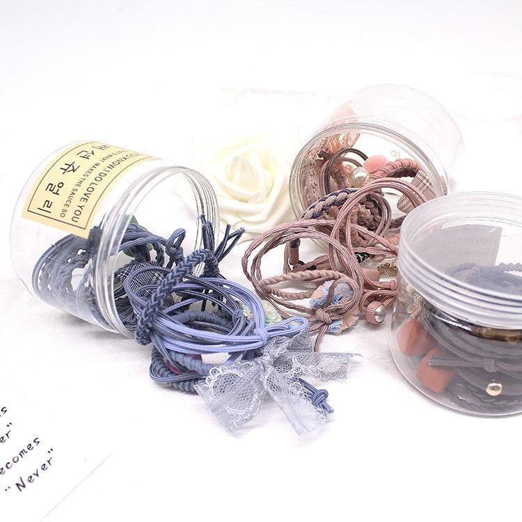 12Pcs Women Ribbon Bowknot Hair Ropes Rubber Hair Ties Bow Elastic Hair Bands
