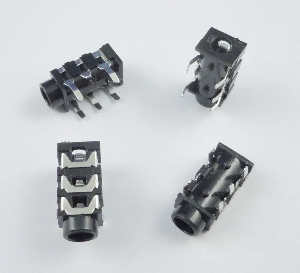 50pcs SMD 3.5mm Stereo Audio Socket Phone Jack Connector 3-Pin PCB Mount