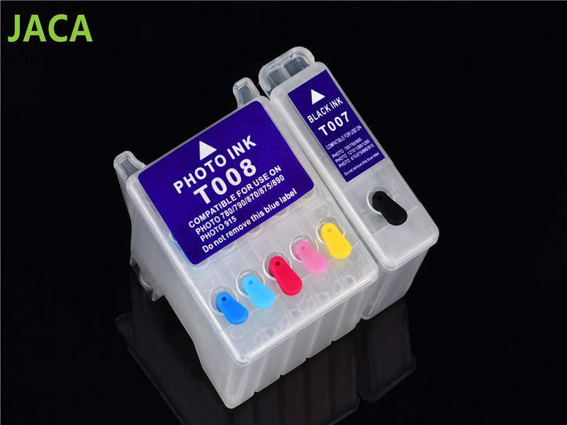 Compatible Refillable Ink Cartridge T007 T008 For Epson Stylus Photo 780/785/785EPX/790/870/875/890/895/900/915/1270/1280/1290 6pcs ink cartridge t2771 t2772 t2773 t2774 t2775 t2776 compatible for epson expression photo xp 750 760 850 860 950