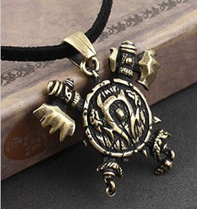 Gothic jewelry (30pcs/lot) A 2013 new arrive vintage Orc badge punk pendant necklace W0007 free shipping