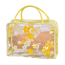 FGGS-Floral Print Transparent Waterproof Makeup Make up Cosmetic Bag Hot Travel Package 24.5*9.17cm