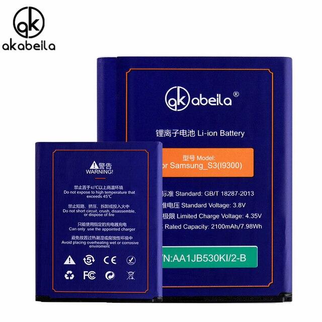 AKABEILA EB-L1G6LLU Battery For Samsung I9300 Galaxy S III LTE S3 I9305 I9308 I747 T999 GT-I9300 GT-I9301 Neo SIII I9301I i9301