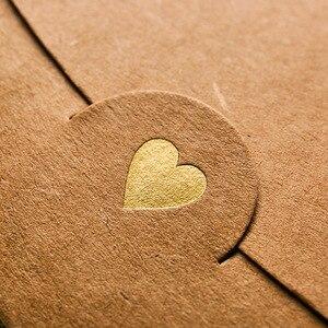 Image 5 - 50pcs/lot Heart Kraft Paper Envelopes European Vintage Hot Stamping Printing Paper Envelope for Wedding Letter Invitation