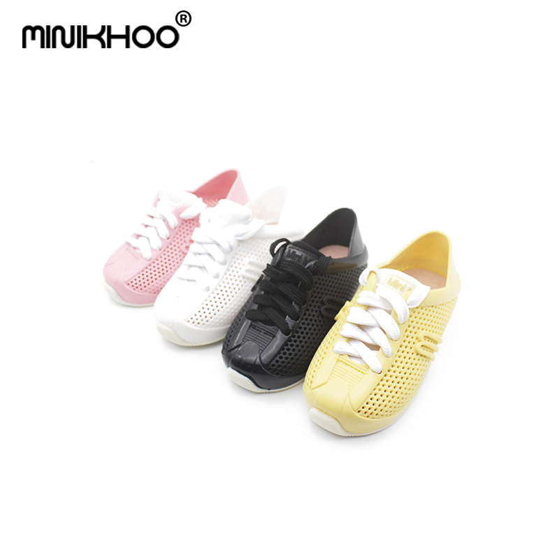 Mini Melissa Girl Sports Shoes Breathable Sneakers 2018 New Children Shoes Boy Girl Sneakers Fashion Shoes For Girls Melissa