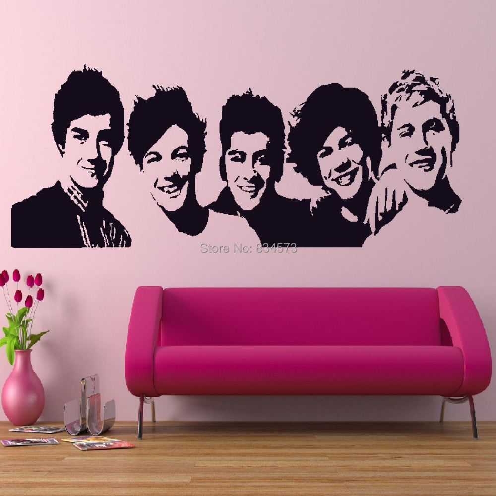 One direction celebrity music wall art stickers wall decal home one direction celebrity music wall art stickers wall decal home diy decoration wall mural removable room decor wall stickers in wall stickers from home amipublicfo Image collections