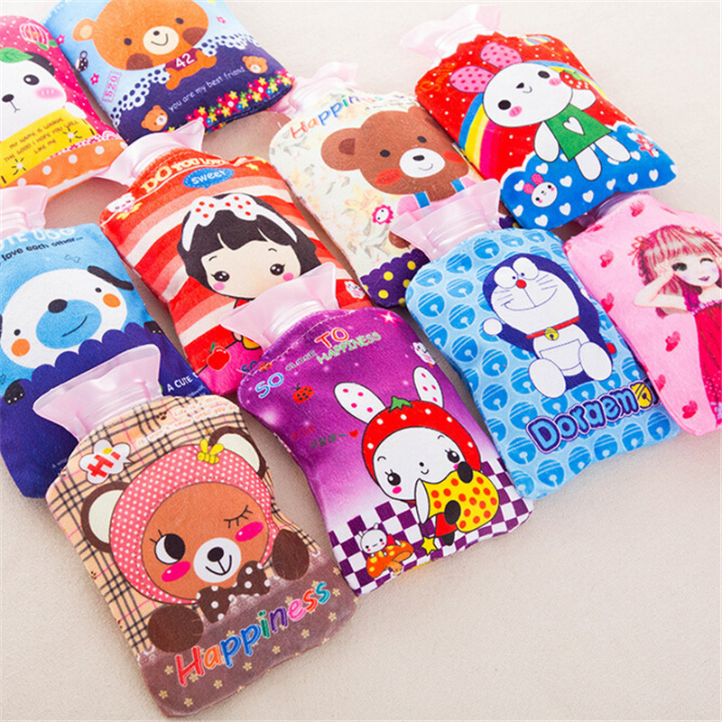 Hot Water Bag Hand Feet Warming Hot Water Bottles Bags Cartoon Plush Warm Hot Water Bottle Sets Including Water Filling Tank warm plush detachable wash safety explosion proof hot water bottle plush turtle clown fish nemo