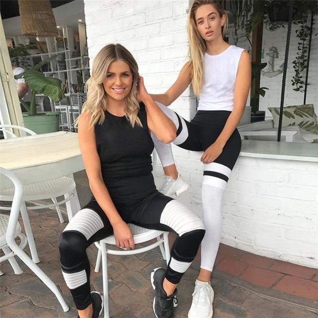 Mesh Patchwork Leggings Fitness 1
