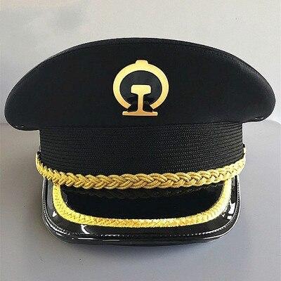 2018 nouvelle marque capitaine marine branche militaire école chapeaux équipage uniforme Cosplay armée marin beaux casquettes pour hommes femmes couleur noire