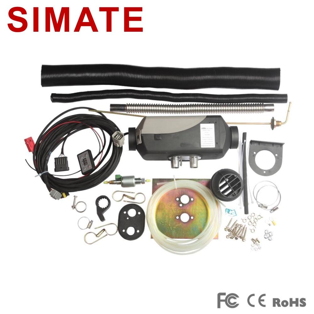 Air Diesel Parking Chauffe 2500 W 12 v Chauffage et Ventilateurs pour Voiture Caravane etc similaire à Webasto Chauffe-