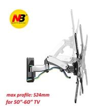 NB F500 Mola A Gás 50-60 polegada LEVOU TV Parede Montar Titular Do Monitor Ergonômico Montar Carregamento 14-23kgs VESA Max 400*400mm