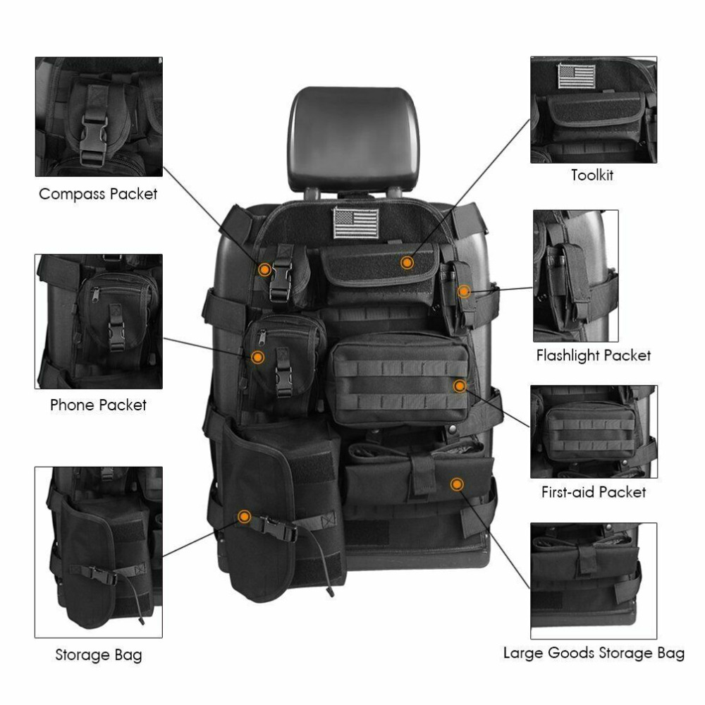 Chuang Qian Universal Seat Cover Case Organizer Storage Muti Pocket For Ford 150 F250 Dodge Ram 1500 2500 Nissan Toyota Honda