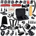 Gopro Accessories Set Helmet Harness Chest Belt Head Mount Strap Monopod Go pro hero3 Hero 4 session 3+ xiaomi yi SJ4000