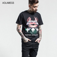 Aolamegs T Shirt Men Vintage Rock Band Cemetery Tombs Printed Men S Short Sleeve T Shirt