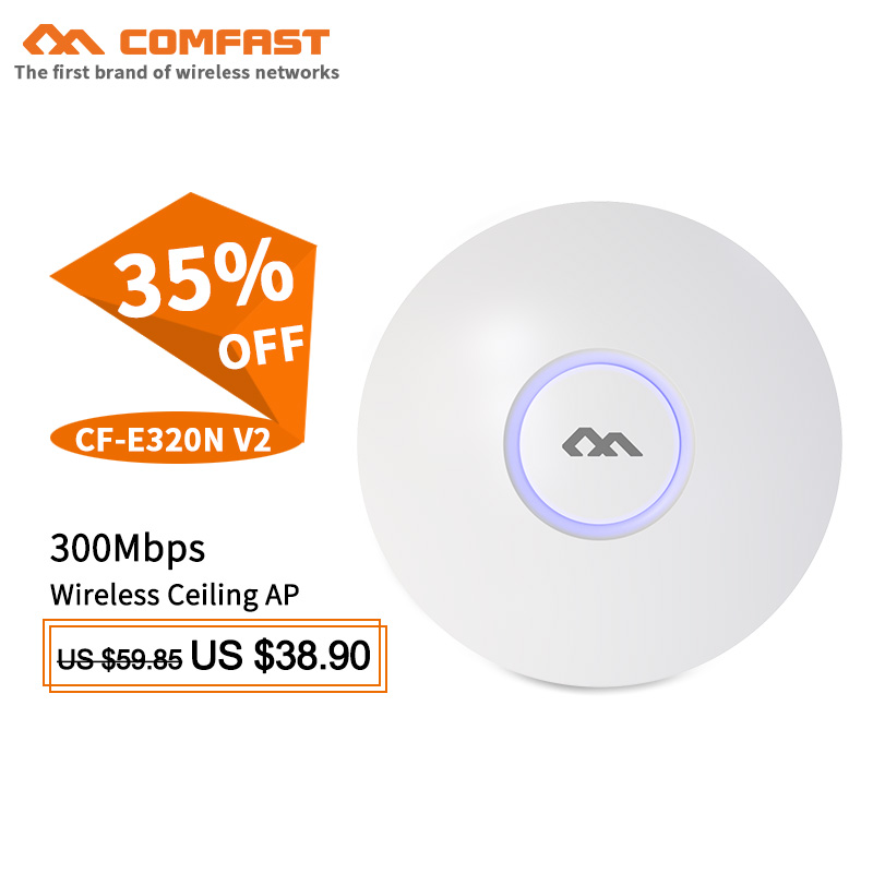 Comfast Wifi Coverage Solution for hotel wireless ceiling AP wifi router 300M Wifi System AP 48V POE OPEN DDWRT Access Point AP jd коллекция 300m потолок ap дефолт