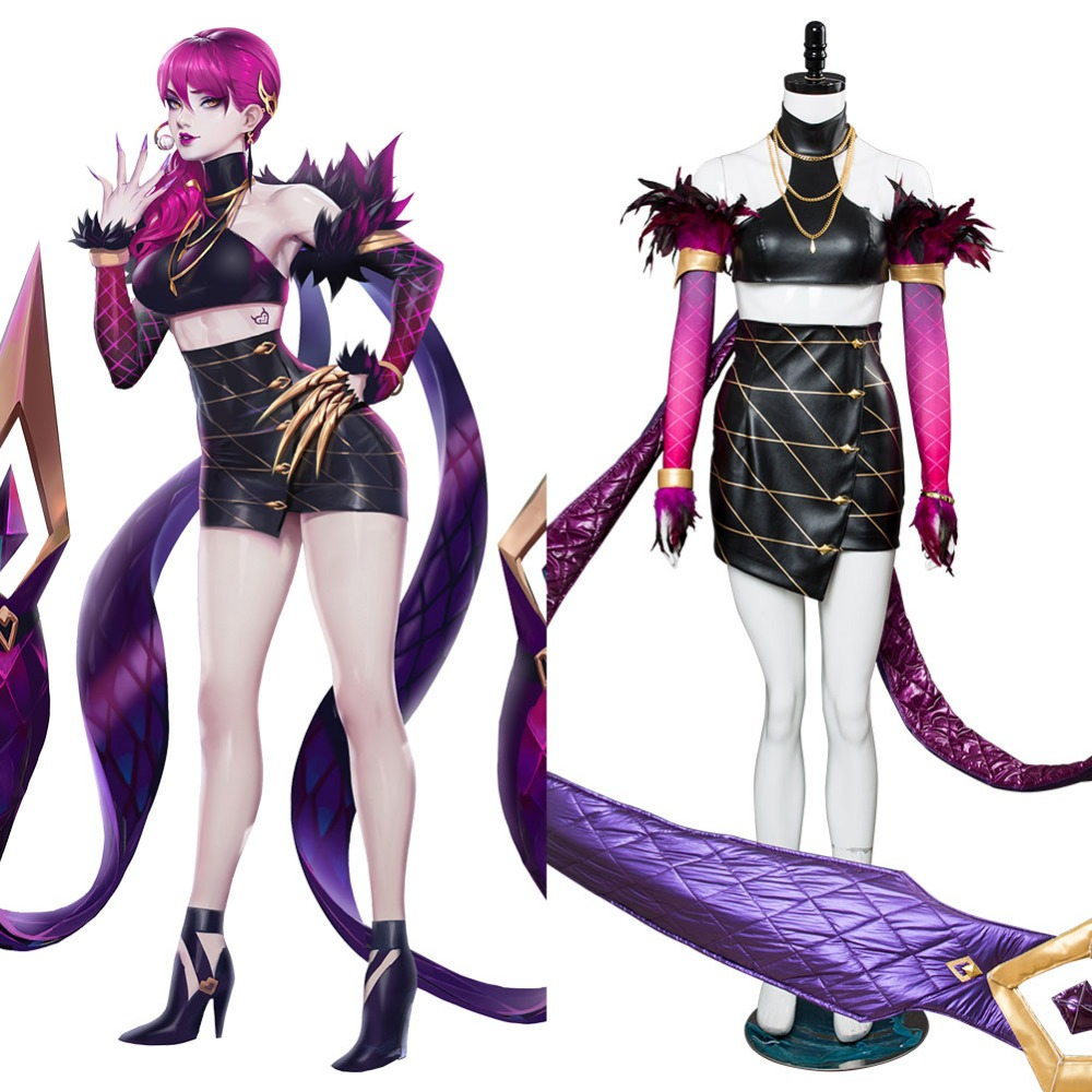 LOL Cosplay Agony's Embrace Evelynn K/DA Skin Cosplay Costume Dress Halloween Carnival Costumes Tailor Made