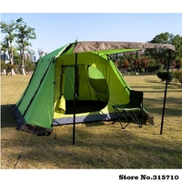 Upgrade new arrival free build square top 4doors 3 4persons fully automatic tent camping family tent in good quality