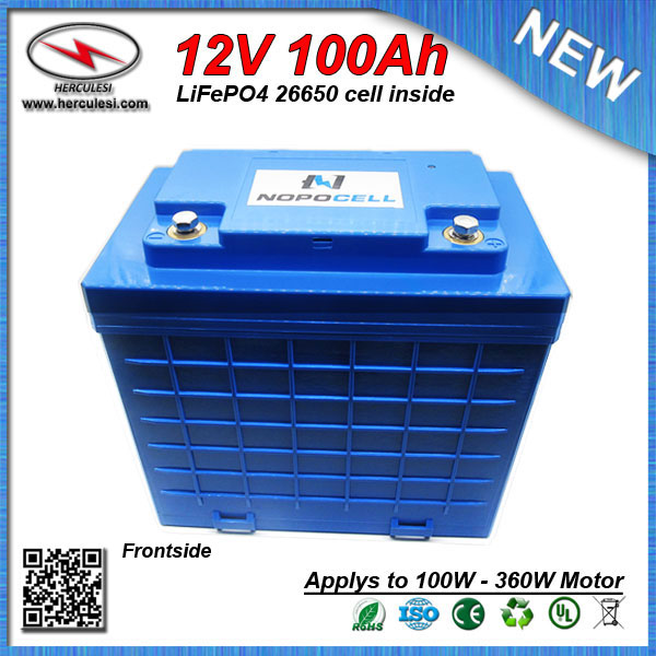 US $799 0 |Water Proof LiFePO4 360W Lithium battery 12V 100Ah Car Battery  built in 3 2V 3300mAh 26650 cell with 30A BMS FREE SHIPPING-in Electric