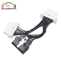 Wholesale OBDII OBD 2 1 TO 2 J1962 Y Cable Female 16 Pin Splitter Extension Auto