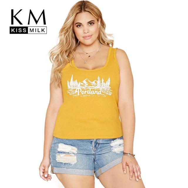 c243e9ae3c2d Kissmilk Fashion 2018 Plus Size Hot Summer Women Clothing Printing Sleeveless  Tops Casual Tank Big Large Size 3XL 4XL 5XL 6XL