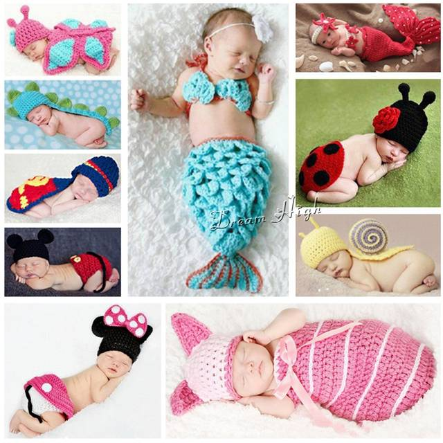 28a972a80a2 Online Shop Hot Animals Infant Mermaid Costume Newborn Hat Butterfly Kids  Clothes Set