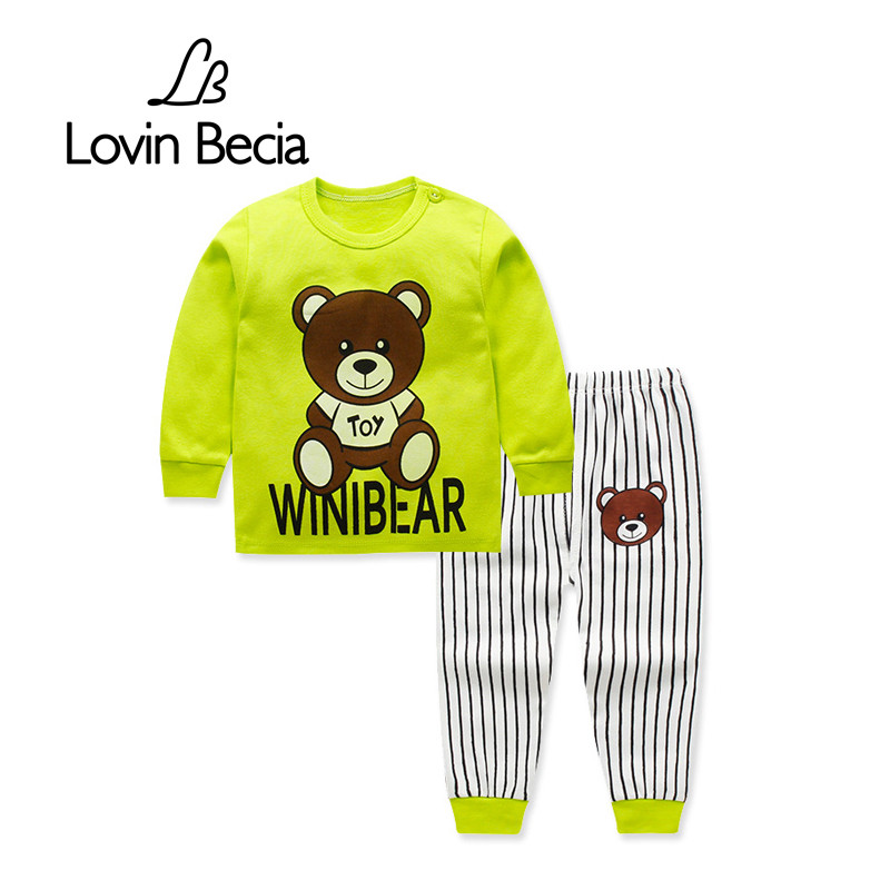 LovinBecia 2pcs Set Baby Underwear Boys Clothing Sets Cartoon Casual clothes Girls pajamas suits toddler infant kids tracksuit winter infant kids baby boy girl clothes sets costume newborn baby clothing sets toddler bebes outfits pajamas wear sport suits