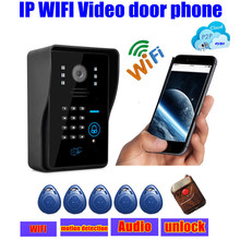 wireless touch waterproof IP wifi Video door phone intercom door bell ip cloud p2p android/ios APP unlock alarm motion detection