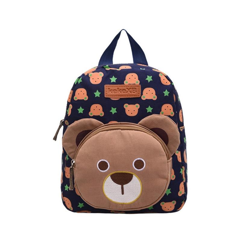 2017 Children Canvas Cartoon Cute Bear School Bags Girls Boys Kindergarten Rabbit Backpack 2017 New Baby Toys Rucksack Mochila цены онлайн