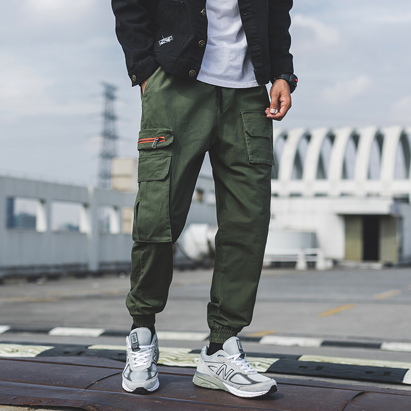 Harem-Pants Mens Joggers Streetwear Multi-Pocket Japan Camouflage Casual Cotton New Hip-Hop