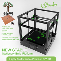 2018 Gecko 3D Printer Big Screen Print Area CoreXY System aluminium structure High precision with heat bed large Titan extruder