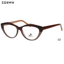 c03b719ad666f ZOBWN samples sale 6pcs frame colors Cat Eye glasses Women Fashion Vintage  ladies glasses Elegant Design Eyewear Retro Eyeglass