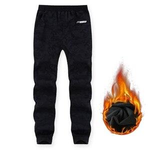 Image 3 - Pantalones de chándal de talla grande para hombre, pantalón cálido, con cintura elástica, de camuflaje, informal, grueso, de terciopelo, para invierno, 8XL, 7XL, 6XL, 5XL
