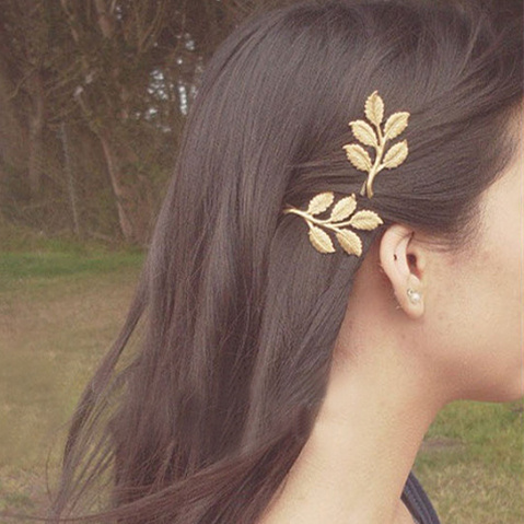 edf95138a ... aliexpress buy wholesale fahion hair jewelry gold textured olive leaf  hairpin bridal jewelry hair cl ...