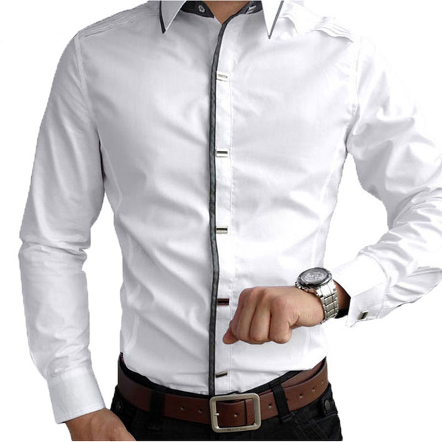 IMC Luxury Top Quality 2017 new mens casual long Sleeve Shirts Men ...
