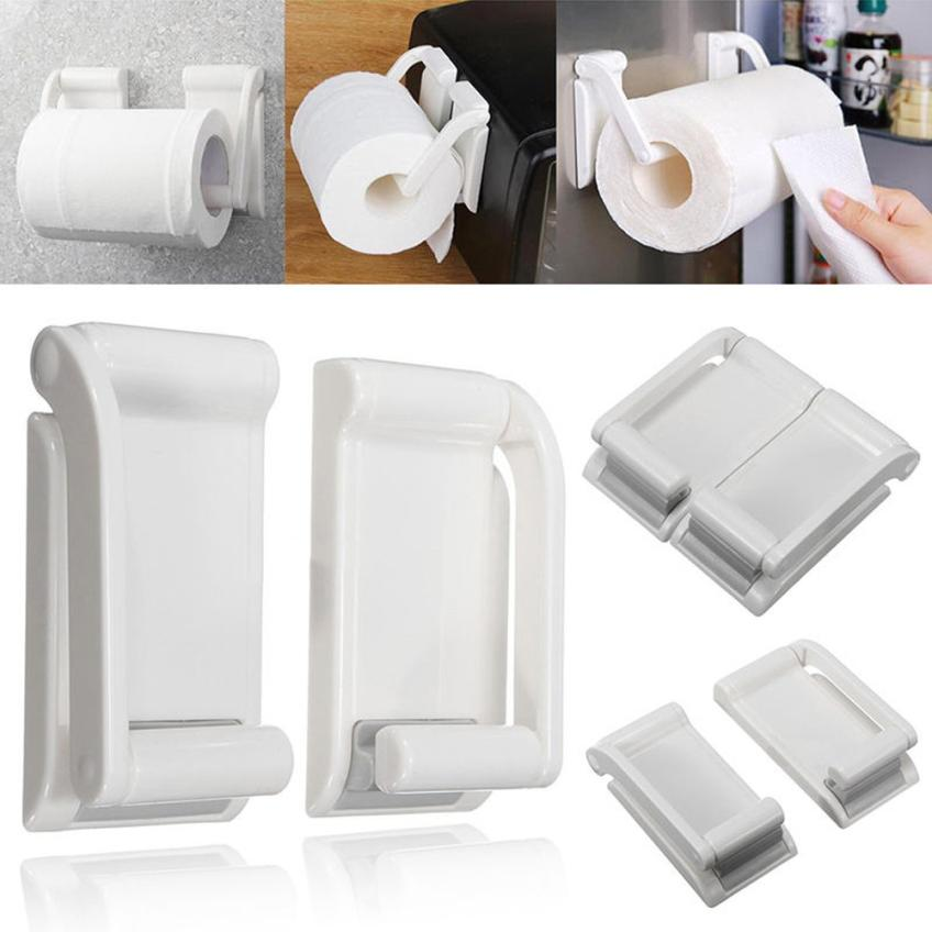 Magnetic Paper Towel Bathroom Hold Holders Kitchen Paper Towel Rack Roll Holder Organizer For Kitchen Drawers t110