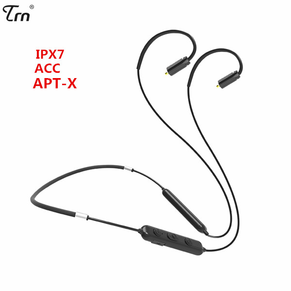 TRN BT10 Wireless Bluetooth 4.2 APT-X IPX7 Waterpproof Cable HIFI Earphone 2PIN/MMCX Use For V10 V20 V80 Yinyoo HQ5 HQ6 HQ8TRN BT10 Wireless Bluetooth 4.2 APT-X IPX7 Waterpproof Cable HIFI Earphone 2PIN/MMCX Use For V10 V20 V80 Yinyoo HQ5 HQ6 HQ8