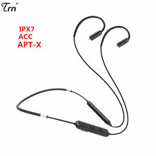 TRN BT10 Drahtlose Bluetooth 4,2 APT-X IPX7 Waterpproof Kabel HIFI Kopfhörer 2PIN/MMCX Verwenden Für V10 V20 V80 Yinyoo HQ5 HQ6 HQ8