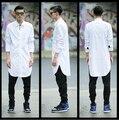 Camisa Social Casual Hip Hop Long Shirt Men Fashion Dress Shirt Big And Tall Long Sleeve Loose Designer Men Fashion Shirts