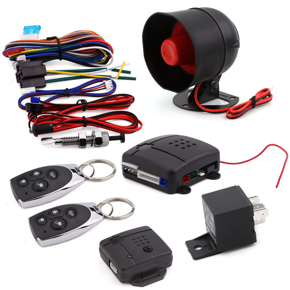 Car styling keyless entry central door lock locking system auto car alarm siren security system
