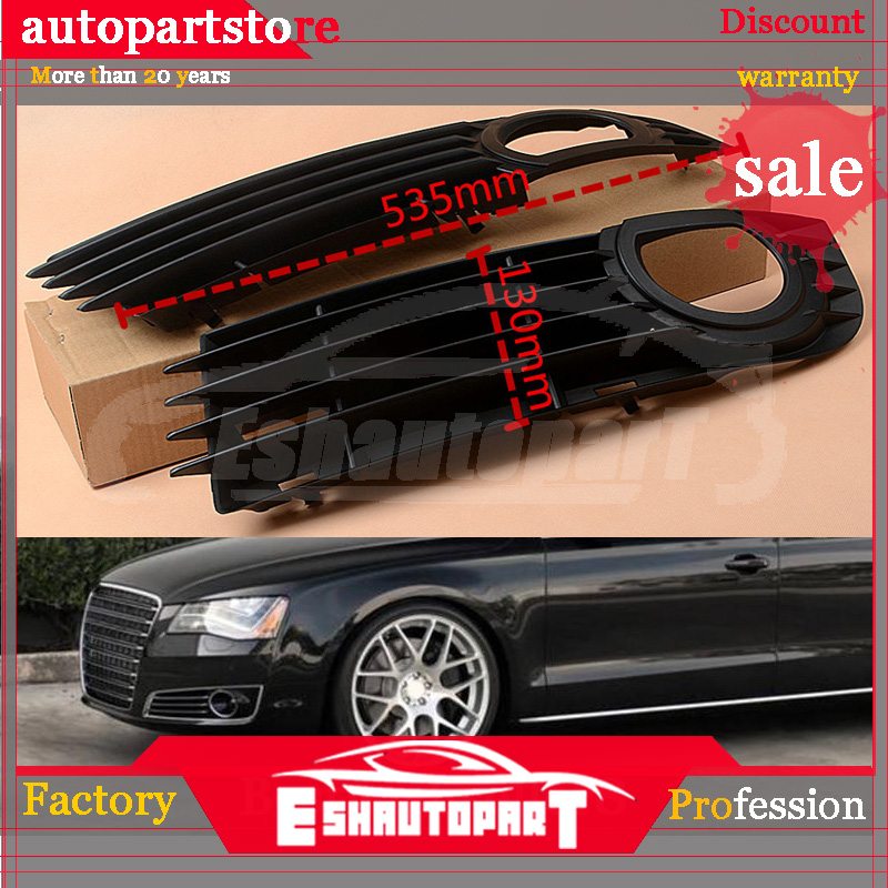 Car Racing Grills Front Bumper Grille Fog Light Cover For