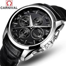 En lüks erkek otomatik mekanik saatler erkekler karnaval deri kayış izle erkek moda rahat iş saati reloj hombre