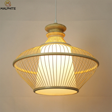New Chinese Bamboo Art  Pendant Lamp Retro Restaurant Caf Lighting Decor Pendant Lights Japanese Antique Home Hanging Fixtures 2018 american village retro originality restaurant wall lamp chinese style wood bamboo personality home decor luminaria lights