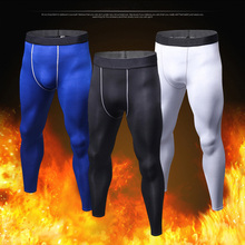 Basketball Leggings Fleece Compression-Pants Running-Tights Fitness Men's Collant Man
