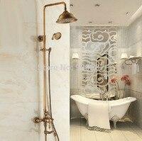 Retro Antique Bronze Bath Ceramic Handshower 8Shower Head Shower Faucet
