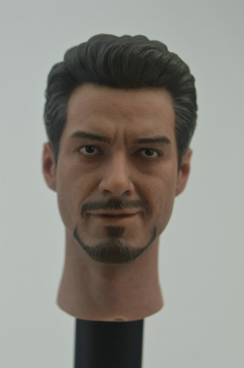 Custom 1/6 Scale Tony Stark Robert Downey Jr. Head Sculpt For Hot Toys Body for 12