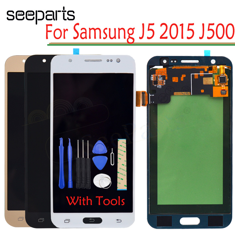 TFT LCD For SAMSUNG Galaxy <font><b>J5</b></font> 2015 <font><b>J500</b></font> LCD <font><b>Display</b></font> J500H J500FN J500F J500M SM-J500F Touch Screen Digitizer For <font><b>j500</b></font> LCD image
