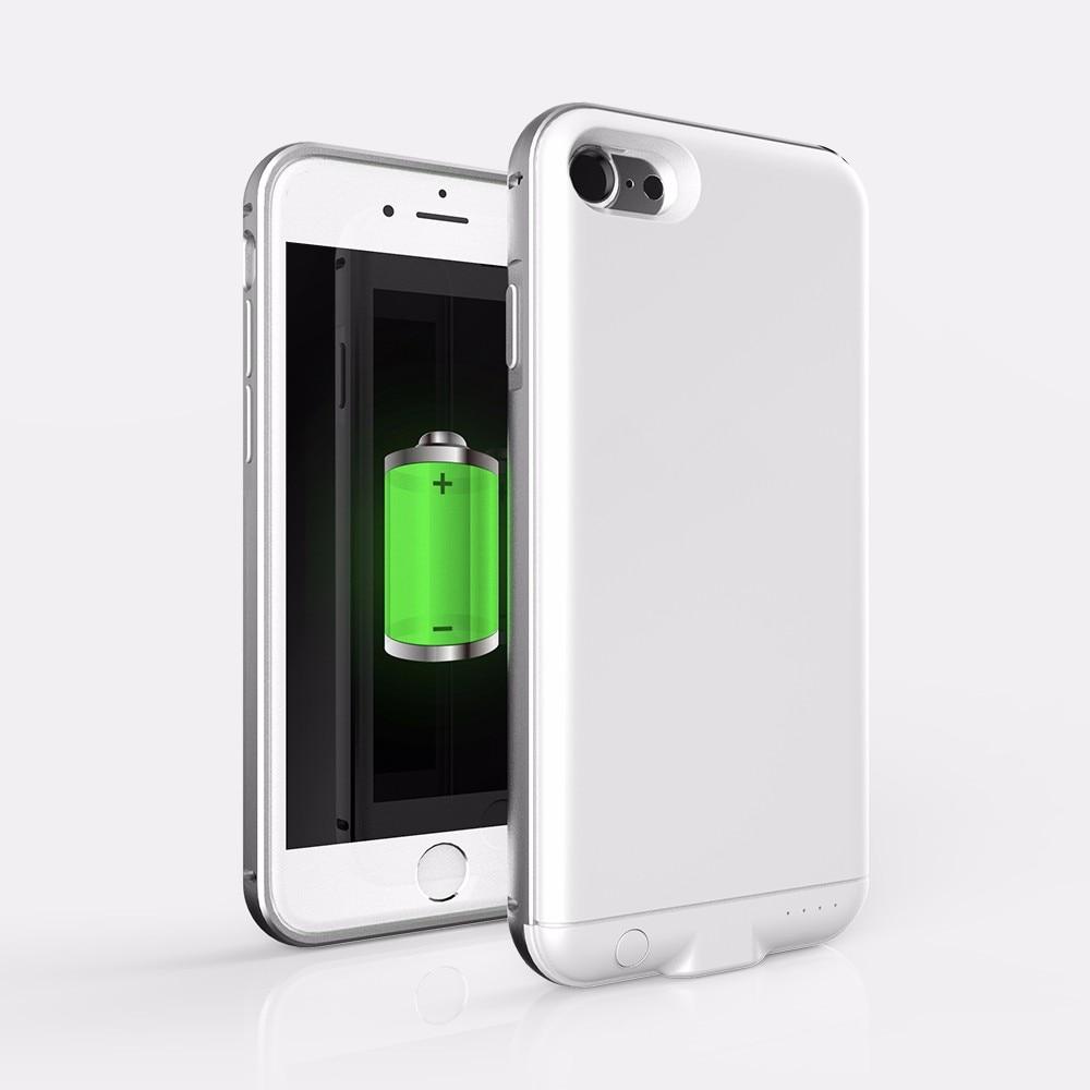 3000 mah Caixa de Bateria De Metal Shell Para O Iphone 7 8 Tampa Inteligente de Alta Qualidade Carregador De Energia Para O Iphone 7 8 caixa de bateria
