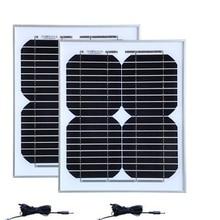 TUV Waterproof Pannello Solare 12v 10W  2 Pcs Solar Module 20w 24v Battery Charger Camp Car Caravan Lamp LED Light