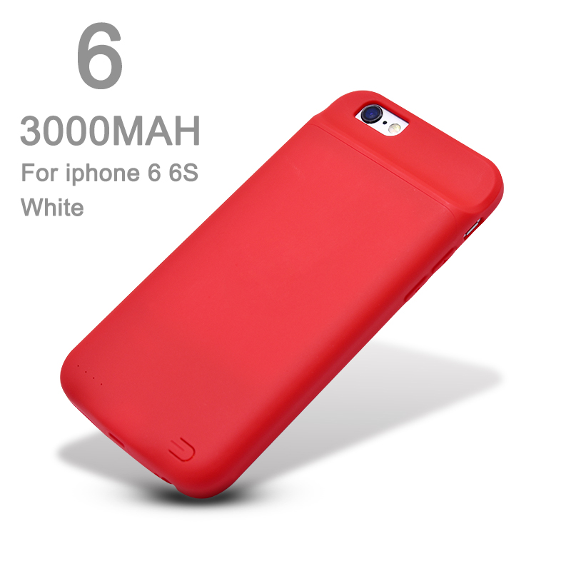 FGHGF Hot Sale Battery Case Power Bank Charing Case For iPhone6 6s 7 8 6sPlus 3000/4000mAh Battery Charger Back Case Cover