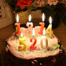 Kids Baby Birthday Anniversary Cake Numbers Age Candle Party Supplies Decoration(China)