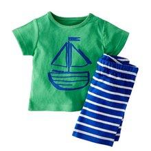 Kids Boy Cartoon Clothing 2 PCS Set Kids Baby Boy Summer Clothes